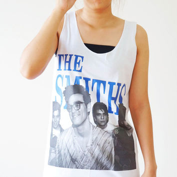 S,M,L -- The Smiths Shirts Morrissey Shirts Indie Rock Alternative Pop Rock Women Shirts Vest Singlet Tank Top Women Tunics Tops Sleeveless