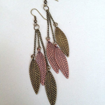 Chain Feather Earrings
