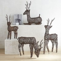 Outdoor Woven LED Deer Collection