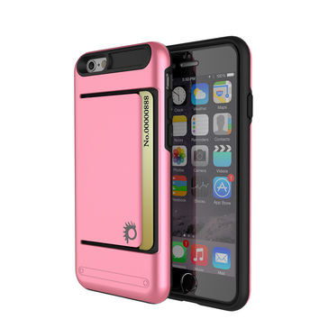 iPhone 6/6s Plus Case PunkCase CLUTCH Pink Series Slim Armor Soft Cover Case w/ Tempered Glass