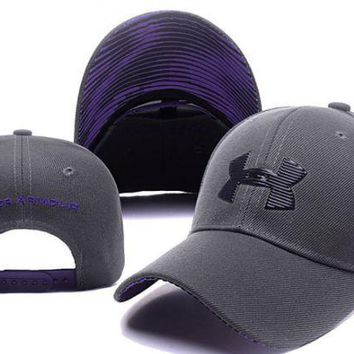 PEAPDQ7 The New Purple Gray Under Armour Cotton Sport Baseball Cap Hats