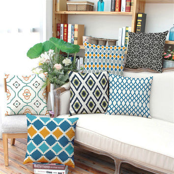 Nordic style Striped  Plaid geometry Cushion without inner Home Decor Sofa Chair Seat Decorative Throw Pillow Almofada cojines
