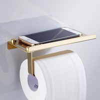 1pcs Stainless Steel Toilet Paper Holder Phone Stand Article Storage Roll Paper Rack Towel Rack Multifunction Bathroom Products