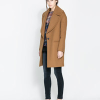 COAT WITH LARGE LAPEL - Woman - New this week | ZARA United States