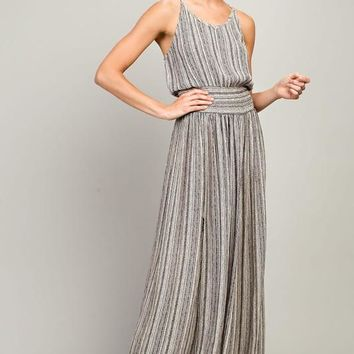 Gemma Striped Halter Maxi Dress