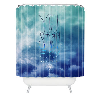 Leah Flores Stormy Sky Shower Curtain
