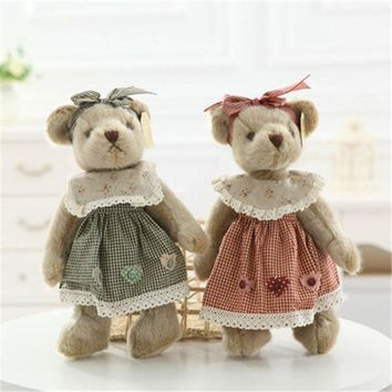 Classic Teddy Bear Plush Toys Cute Bear in Clothes Peluche Stuffed Dolls Gift for Kids Friends Lovers 35cm 1pc