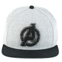 The Avengers Logo Mens Grey Snapback Hat Cap - The Avengers - | TV Store Online