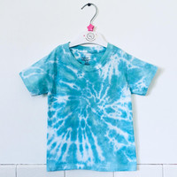 Hand Dyed Turquoise Blue Unisex Baby Onesuit or T-Shirt / Toddler Tee / Infant / Boy / Girl / Tie Dye Baby