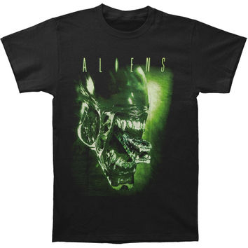 Alien Men's  Aliens Tongue T-shirt Black Rockabilia
