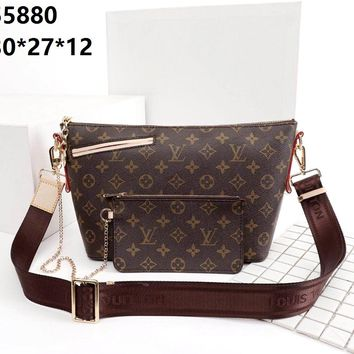 LV 2019 new women's classic presbyopia simple versatile shoulder bag Messenger bag two-piece