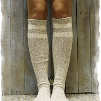FREE SPIRIT -  striped knee boot socks