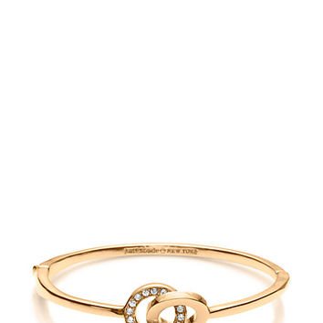 Kate Spade Infinity & Beyond Infinity Knot Bangle Clear/Gold ONE