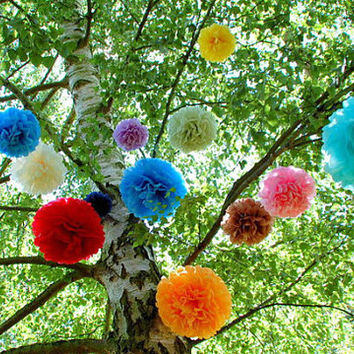 6 Tissue Pom Poms Party Poms Weddings Decoration Pompom Nursery Paper Decoration Party Decoration Poms Party Pompoms Tissue Paper Flower