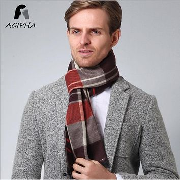 Winter Warm New Fashion Plaid Wrap Scarf Men Cashmere Imitation Casual Vintage Male Scarves Shawl Type XC01 2017 Size 30*180