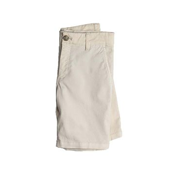 Youth Neal Stretch Twill Shorts in Stone by Johnnie-O