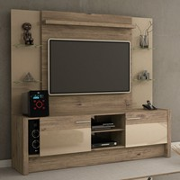 Morning Side Freestanding Theater Entertainment Center in Brown