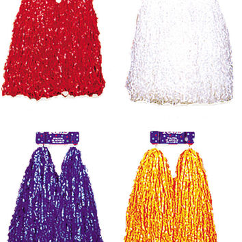 costume accessory: pom poms plastic cheer | white Case of 2