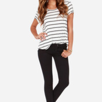 Dittos Selena Black Mid Rise Super Skinny Ankle Jeans