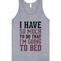 I Have So Much To Do (Vintage Tank)-Unisex Athletic Grey Tank