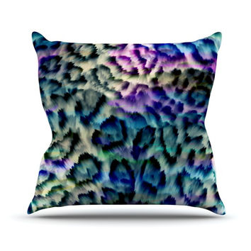 "Gabriela Fuente ""Wild"" Outdoor Throw Pillow, 16"" x 16"" - Outlet Item"