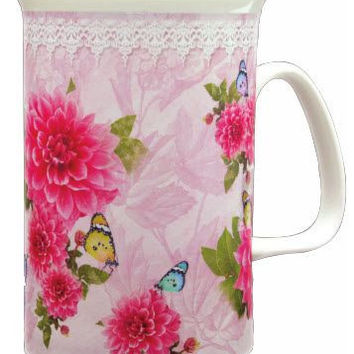 Peonies Bone China Mug
