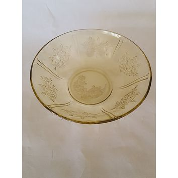 Federal Amber Depression Glass Serving Bowl