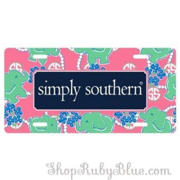 Simply Southern License Plate