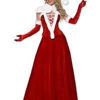 Santa Costumes Top and A-Line Maxi Skirt Set