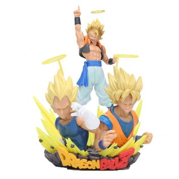 New Dragon Ball Z Gogeta Bust PVC Action Figures Anime Dragon Ball Super Saiyan Vegeta Son Goku Gogeta Model Collection Toy