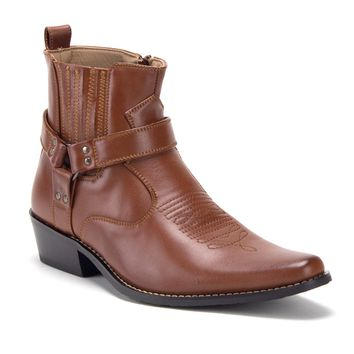 Men's Western Ankle High Cowboy Riding Dress Boots