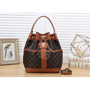 LV Louis Vuitton Newest Retro Women Leather Shoulder Bag Handbag Crossbody Satchel Brown