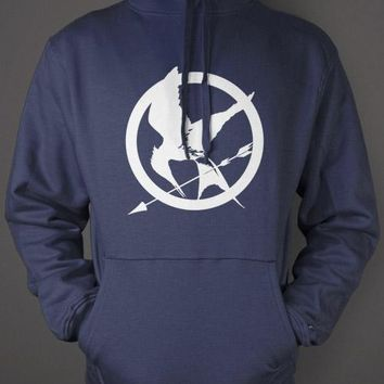 Hunger Games Hoodie - Mockingjay Blue Sweatshirt
