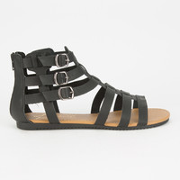 CELEBRITY NYC Strappy Buckle Womens Gladiator Sandals | Sandals