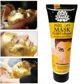 24K Gold Collagen Anti-Wrinkle Anti-Aging Skin Firming Peel-Off Face Mask