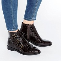 ASOS ALTAIR Leather Ankle Boots at asos.com