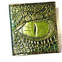 Men's Leather Dragon Wallet on Etsy,Geek or Geekery Gift,Boyfriend Gift,Dragon Wallet,green,Gifts for her or him,holds12 Cards,2 Bill Slots