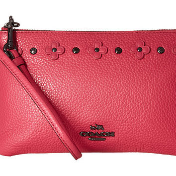 COACH Box Program Floral Rivets Detaill Small Wristlet
