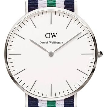 Men's Daniel Wellington 'Classic Nottingham' NATO Strap Watch, 40mm