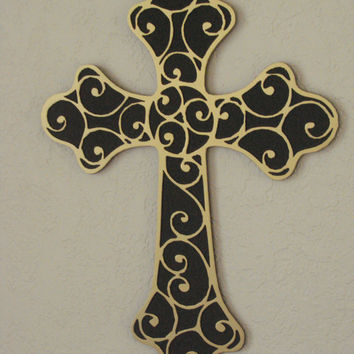 3D Cross 16 Inch Metal Wall Art