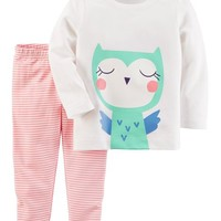 2-Piece Owl Top & Legging Set