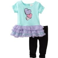 Flapdoodles Baby Girls' Heart Ballerina Dress Set