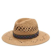 With Love From CA Straw Panama Hat - Womens Hat - Natural - One