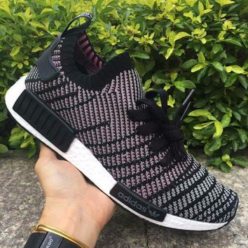 CREYNW6 Adidas NMD R1 Stlt Spring Summer 2018 Line up Black/purple Running Sport Shoes Camouflage Sneakers Casual Shoes
