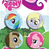 My Little Pony Friendship Is Magic Head Shot Pin Set - My Little Pony - | TV Store Online