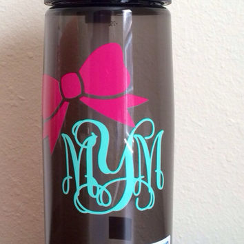 LOWEST PRICE on ETSY Monogrammed Personalized Bow Camelbak Water Bottle. Perfect Gift