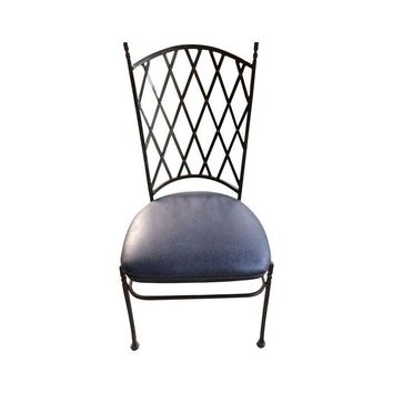 Pre-owned Black Wrought Iron Chairs - Set of 9