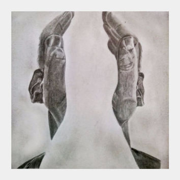 hearing hands-graphite pencil sketch| a nocturne Square Art | artist: Gagan M S