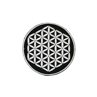 Flower of Life Iron On Patch Embroidery Sewing DIY Customise Denim Cotton