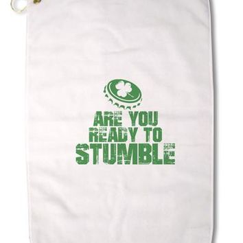 "Are You Ready To Stumble Funny Premium Cotton Golf Towel - 16"" x 25 by TooLoud"
